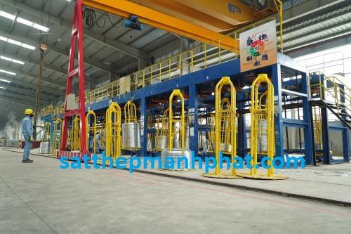 dây chuyền sản xuất sắt thép Hòa Phát hiện nay 2018 trên thị trường