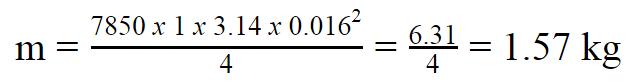 1 mét thép Hòa Phát phi 16 nặng bao nhiêu kg