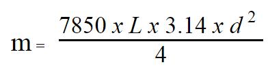 Công thức tính trọng lượng thép phi 16 hòa phát