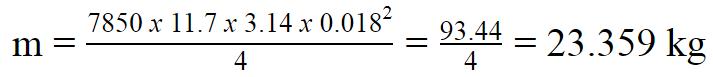 Trọng lượng 1 cây thép phi 18 Hòa Phát